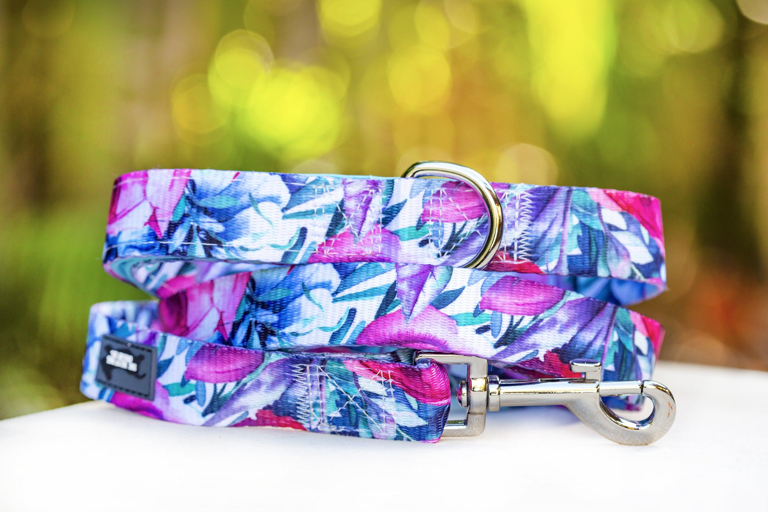 Rose Blossoms Dog Lead (Premade)-Dizzy Dog Collars