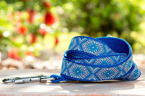 Blue Mexican Dog Leash (Handmade to order)