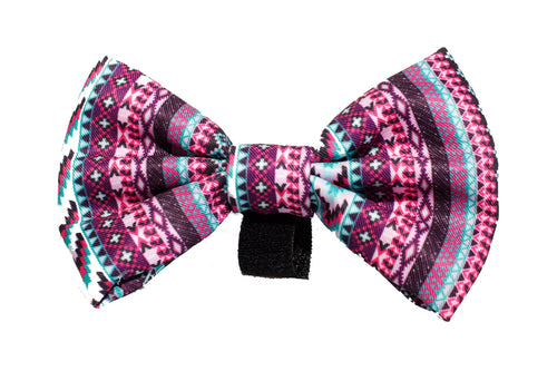 Purple Aztec Bow Tie