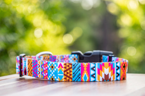 "Bright Aztec Dog Collar ""Value Range"""