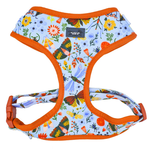 DOG HARNESS - Bountiful Bugs - Neck Adjustable Harness (Premade)