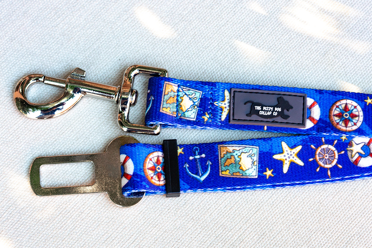 Dog Seatbelt - Nautical-Dizzy Dog Collars