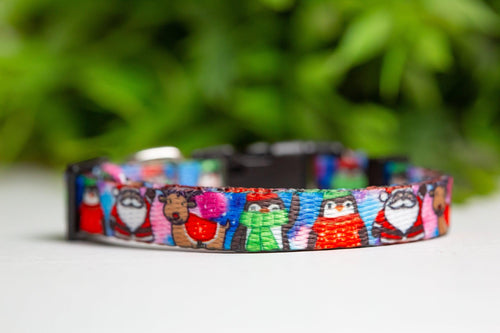 Christmas Carnival Cat Collar / Toy Breed Dog Collar