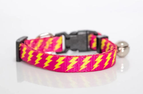 Pink Bolt Cat Collar / Toy Breed Dog Collar
