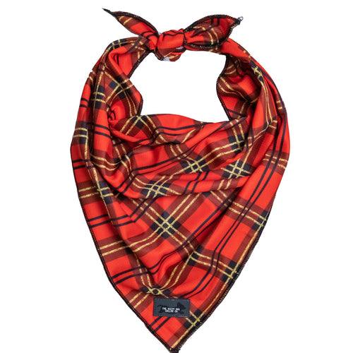 Christmas Plaid Bandana - Tie Up Dog Bandana