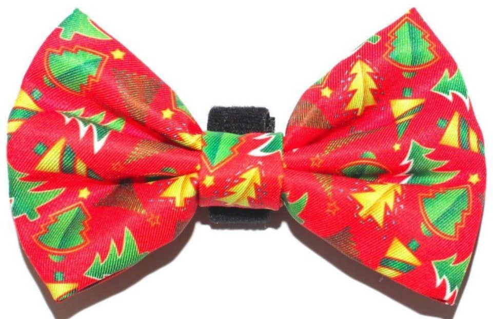 Classic Xmas Bow Tie - Small & Large-Dizzy Dog Collars-Dizzy Dog Collars