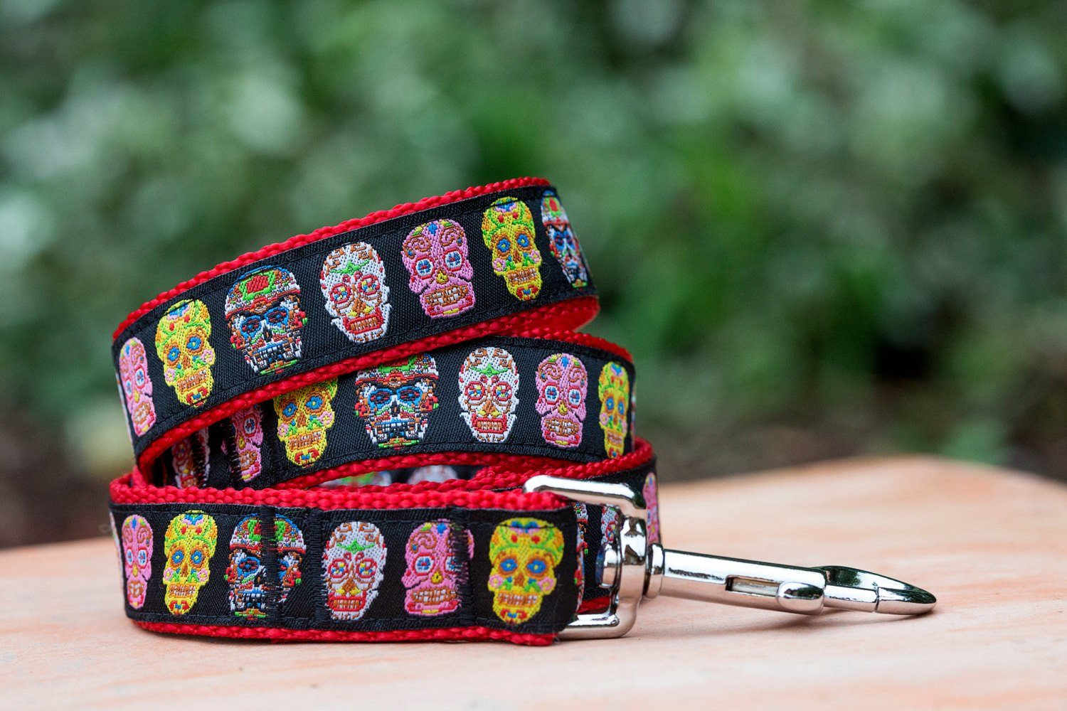 Day of the Dead Dog Leash-Dizzy Dog Collars-Dizzy Dog Collars