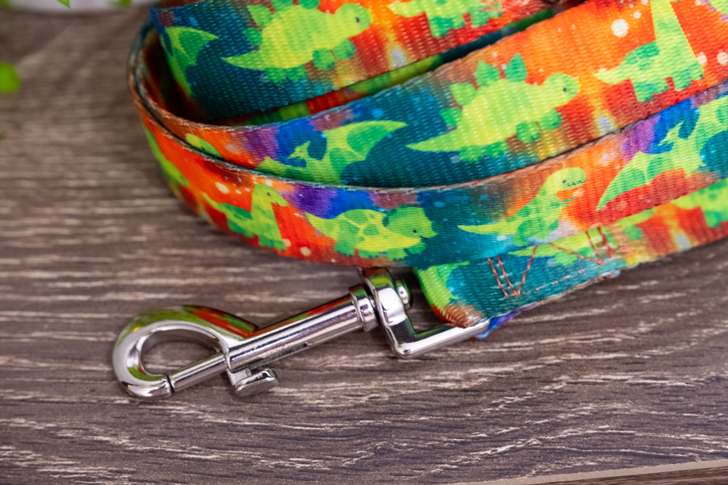 DinoRAWR Dog Leash (Premade)-Dizzy Dog Collars