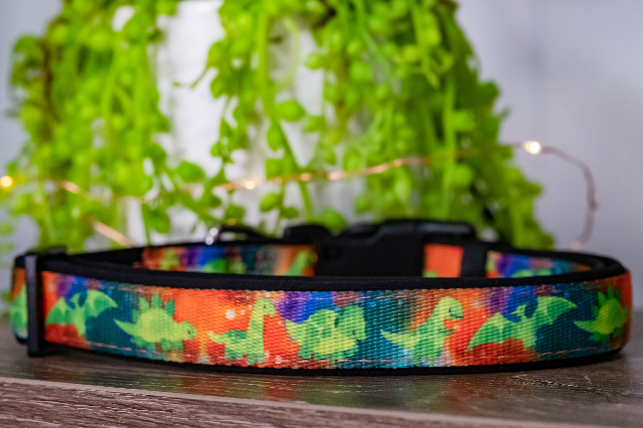 DinoRAWR Dog Collar (Premade)-Dog Collar-Dizzy Dog Collars