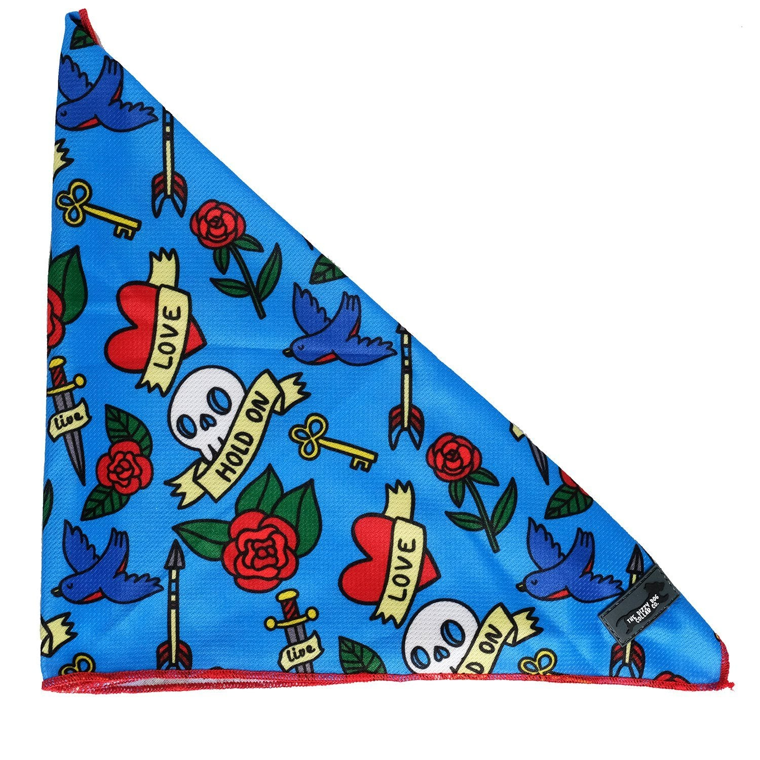Dog Bandana - Tie Up Bandana - Rockabilly-Dizzy Dog Collars