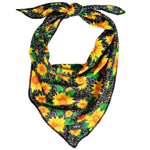 Dog Bandana - Tie Up Bandana - Sunflowers
