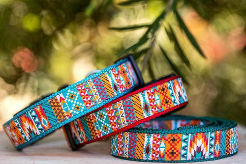 Aztec / Mexican Dog Collar XS-XL (Handmade to order)