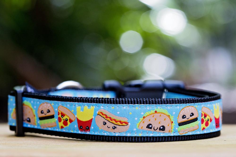"Cheat Day Dog Collar XS-XL-Dog Collar-Dizzy Dog Collars-Extra Large 1"" (2.5cm) Wide-Dizzy Dog Collars"