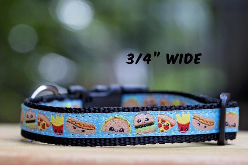 "Cheat Day Dog Collar XS-XL-Dog Collar-Dizzy Dog Collars-Extra Small 5/8"" (1.5cm) Wide-Dizzy Dog Collars"
