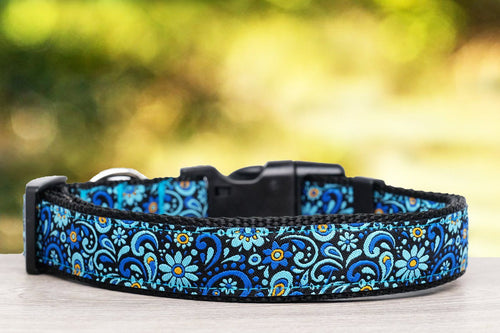 Flower Power Dog Collar (Nylon) (Handmade to order)