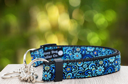 Flower Power Martingale (Webbing or Half Check)  (Handmade to order)