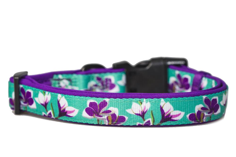 flower dog collar, dog collar Australia, Dog Collar, Dog Harness, French Bulldog Harness, big and little dogs