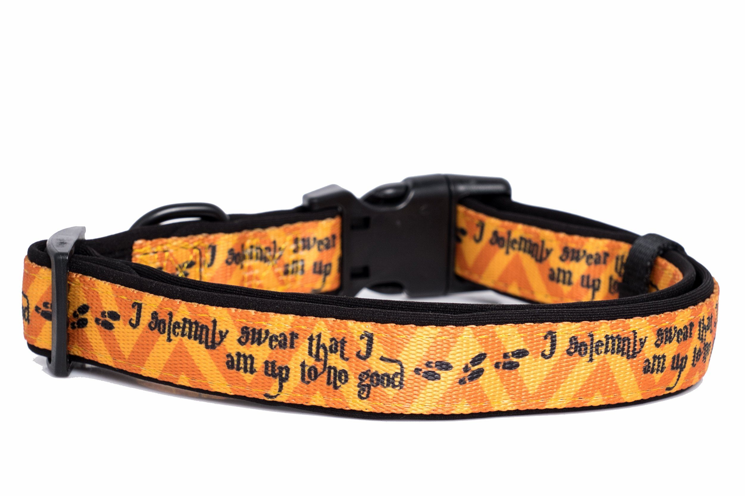 Harry Potter Dog Collar (Neoprene)-Dog Collar-Dizzy Dog Collars-Small 1.5cm Wide-Dizzy Dog Collars