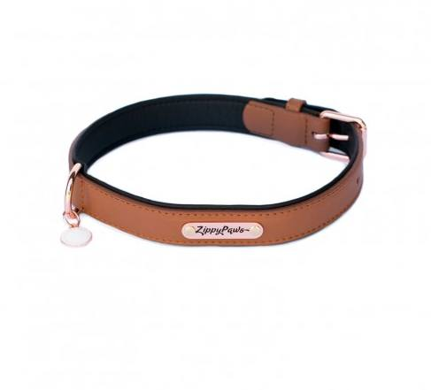 "Legacy Collection Leather Dog Collar - Brown (available to fit 12""-22"" necks)"