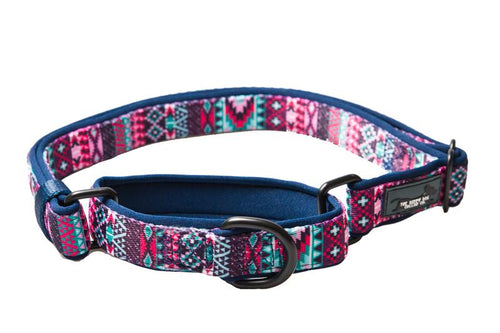 Martingale Dog Collar -  Purple Aztec (Premade)