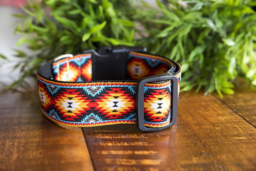 "Navajo Dog Collar 1.5"" Wide (Handmade to order)"