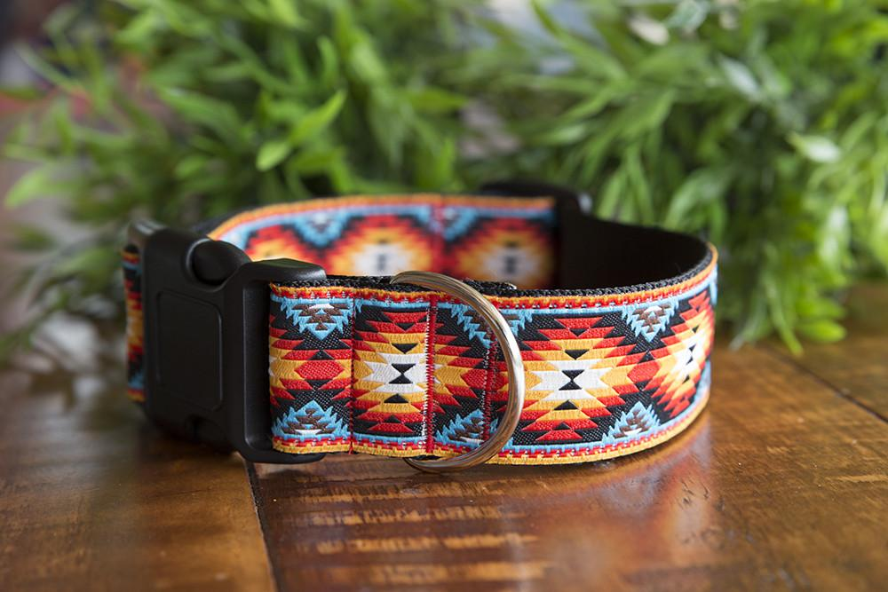 "Navajo Dog Collar 1.5"" Wide-Dog Collar-Dizzy Dog Collars-Medium-Dizzy Dog Collars"