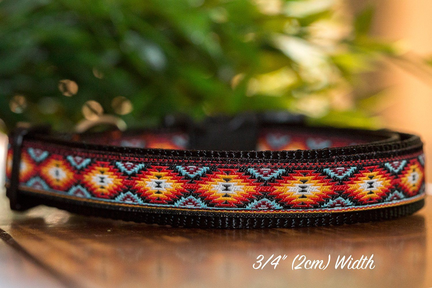 "Navajo Dog Collar XS-XL-Dog Collar-Dizzy Dog Collars-Extra Small 5/8"" (1.5cm) Wide-Dizzy Dog Collars"