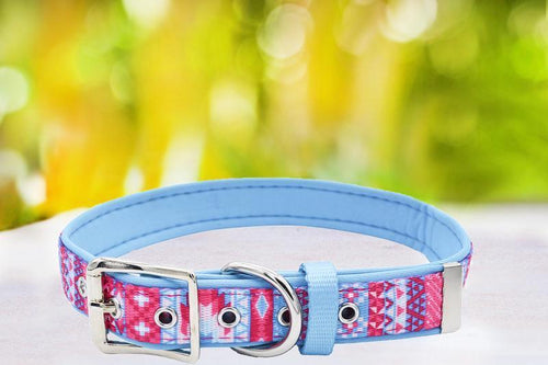 Pastel Aztec - Belt Buckle Dog Collar