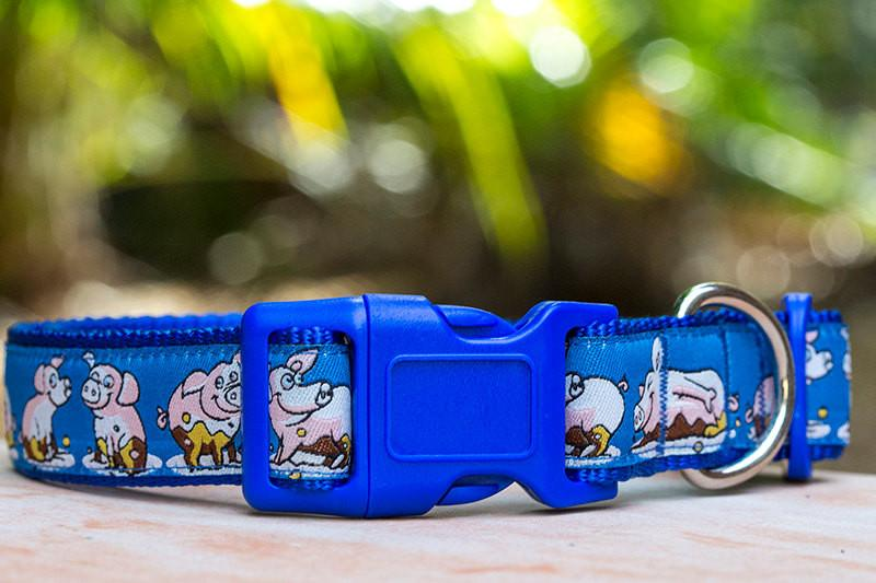 "Piggy Dog Collar / XS-XL-Dog Collar-Dizzy Dog Collars-Extra Small 5/8"" (1.5cm) Wide-Dizzy Dog Collars"