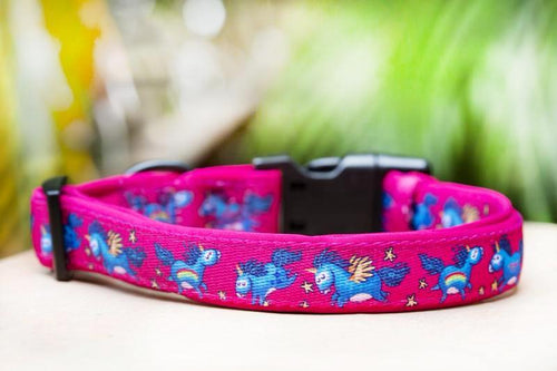 Pink Unicorn Dog Collar (Premade)
