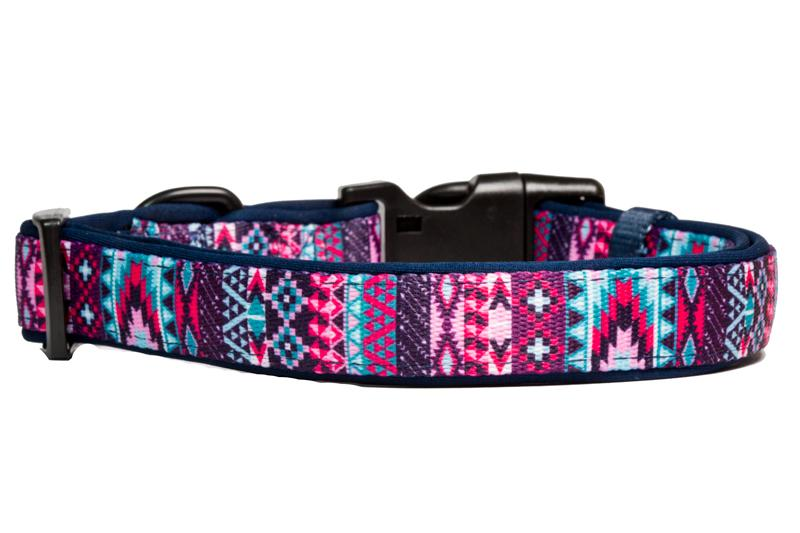 Purple Aztec Dog Collar-Dog Collar-Dizzy Dog Collars-Extra Small 1.5cm Wide-Dizzy Dog Collars