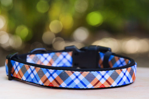 Roma Plaid Dog Collar (Premade)