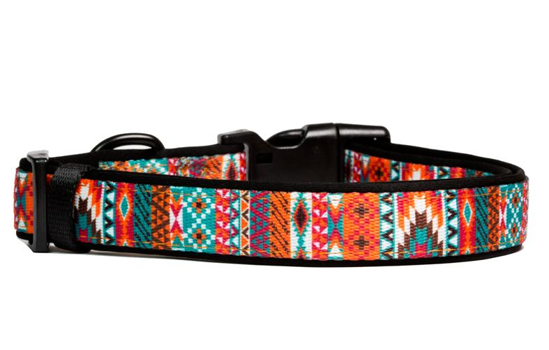 aztec dog collar, neoprene dog collars