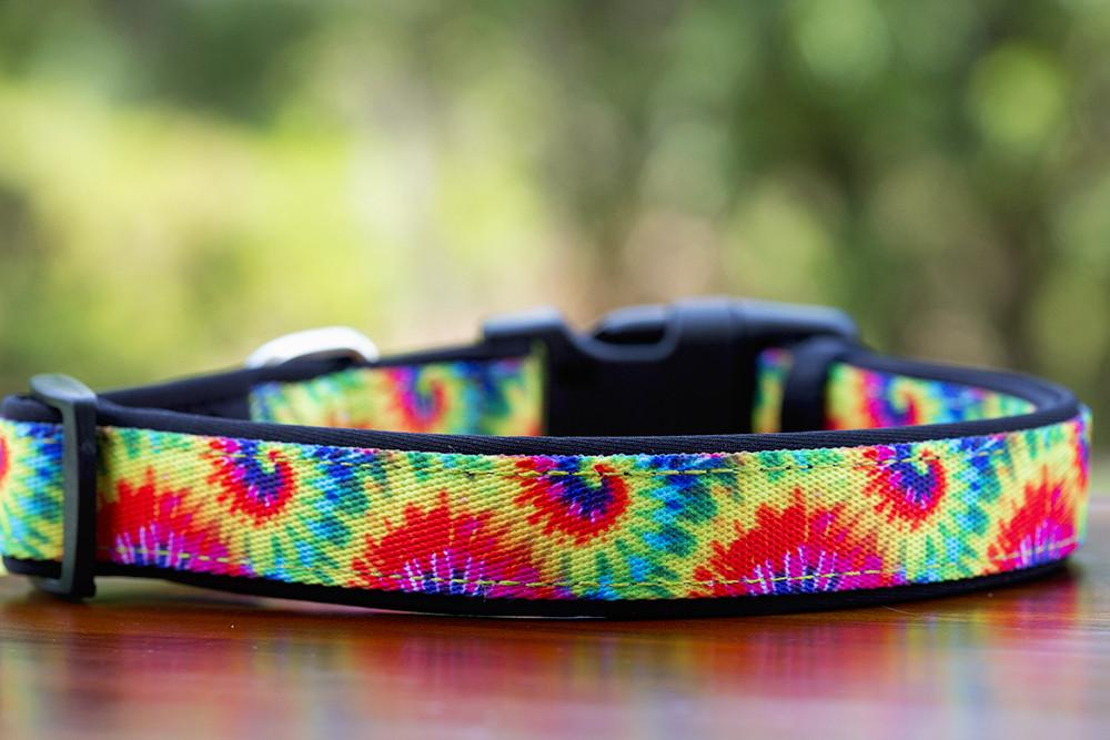 Tie Dye Dog Collar (Neoprene)-Dog Collar-Dizzy Dog Collars-Large-Dizzy Dog Collars