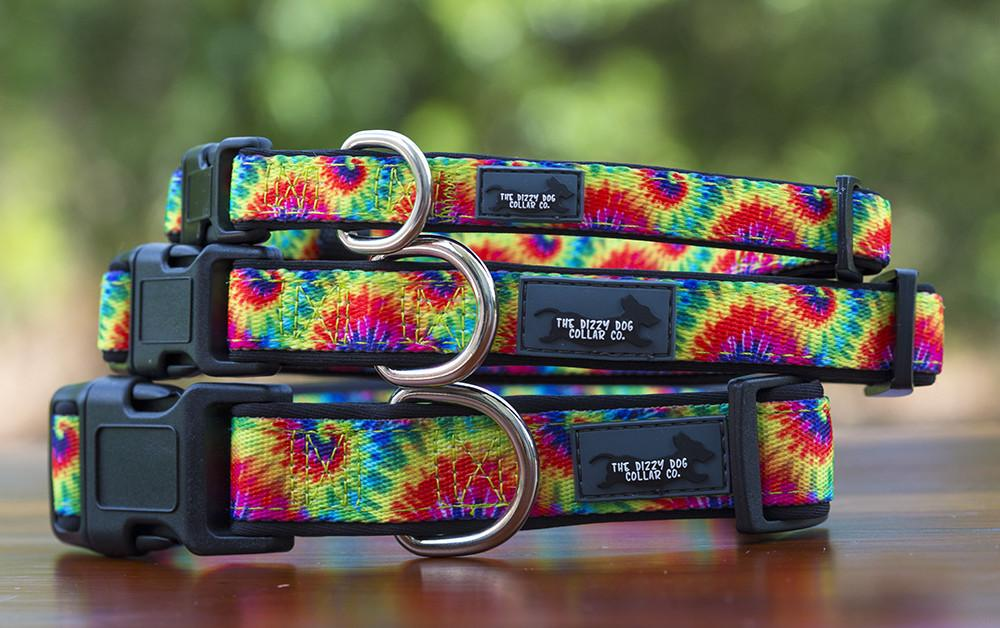 Tie Dye Dog Collar (Neoprene)-Dog Collar-Dizzy Dog Collars-Small-Dizzy Dog Collars
