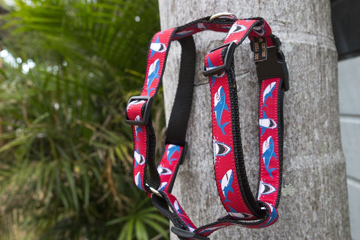"Dog Harness / H-Harness for Dogs-Dizzy Dog Collars-Custom Size - 1"" Wide-Dizzy Dog Collars"