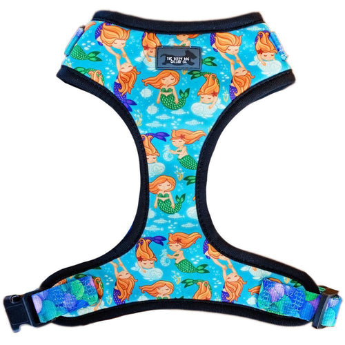 DOG HARNESS - Mystical Mermaids - Adjustable ( Large)