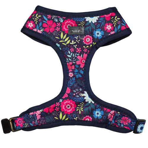 DOG HARNESS - Navy Floral - Standard Dog Harness