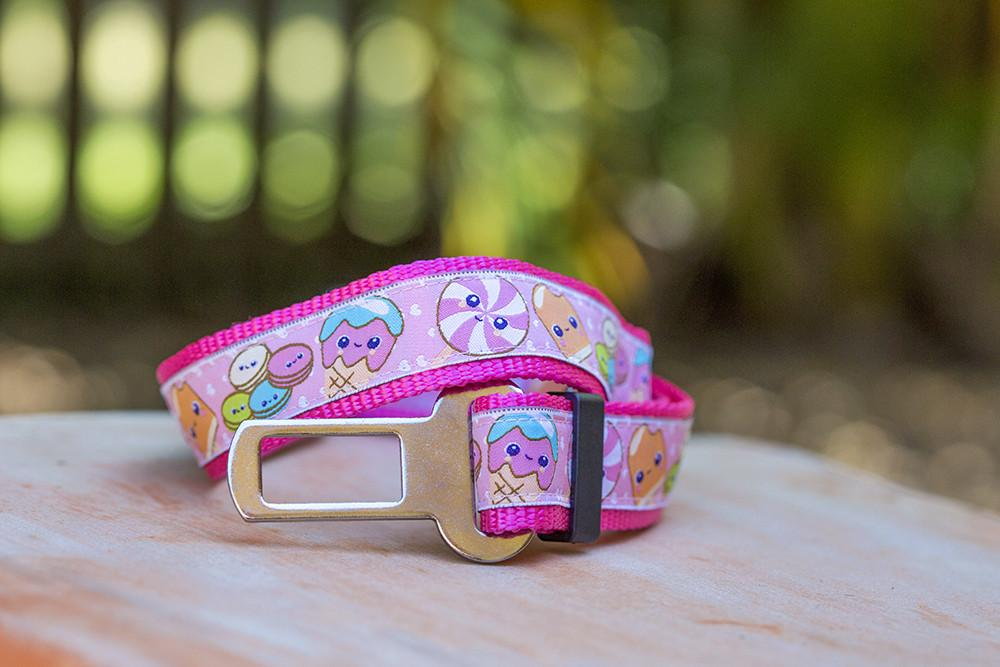 Dog Seatbelt - Sweet Treats-Dizzy Dog Collars-Dizzy Dog Collars