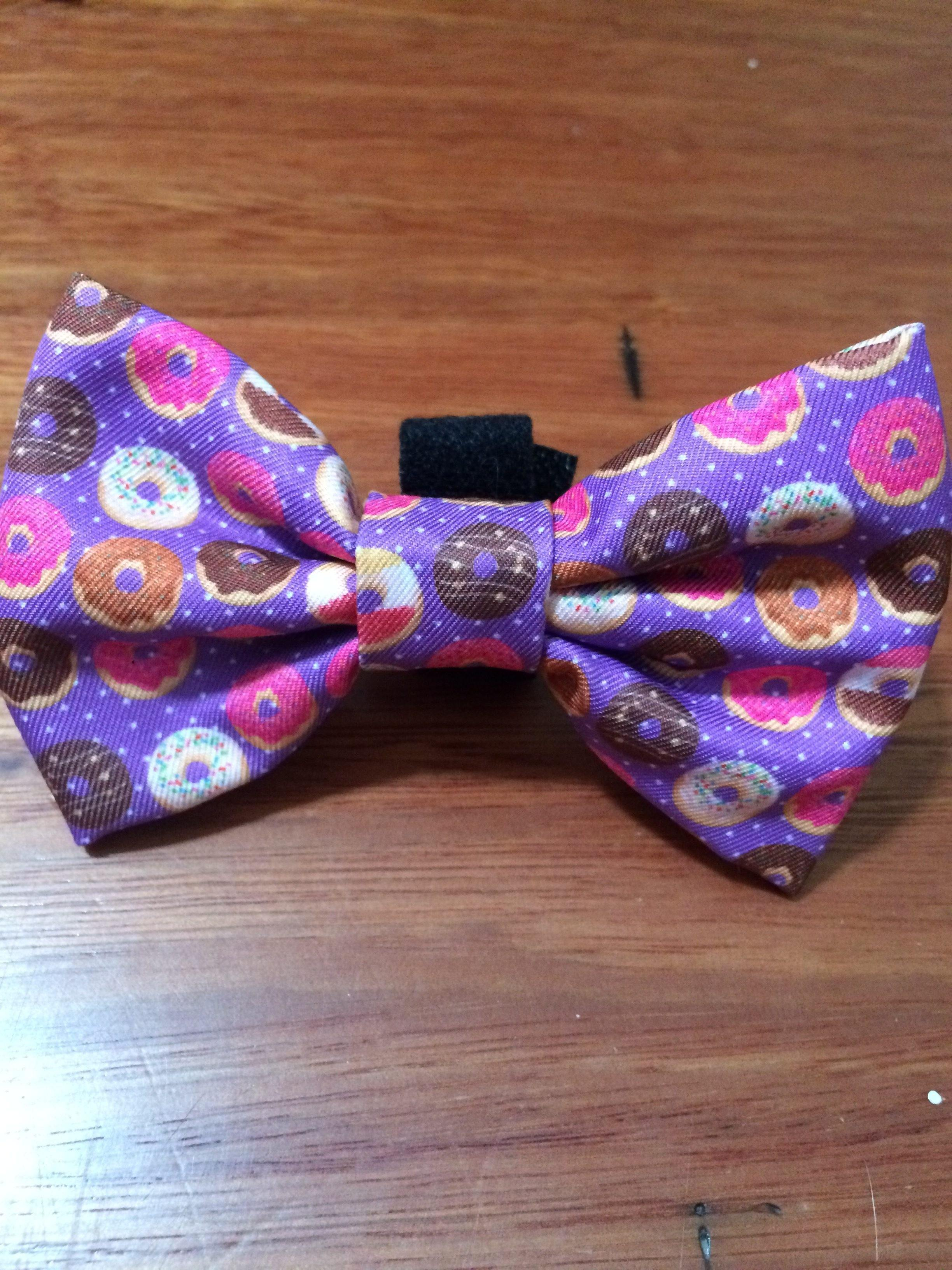 Donuts Bow Tie - Small & Large-Dizzy Dog Collars-Large-Dizzy Dog Collars