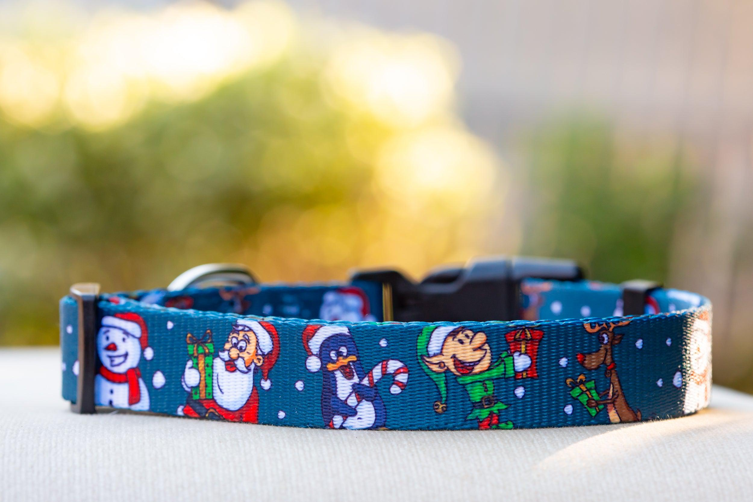 Let it Snow - Christmas Dog Collar (Premade)-Dog Collar-Dizzy Dog Collars