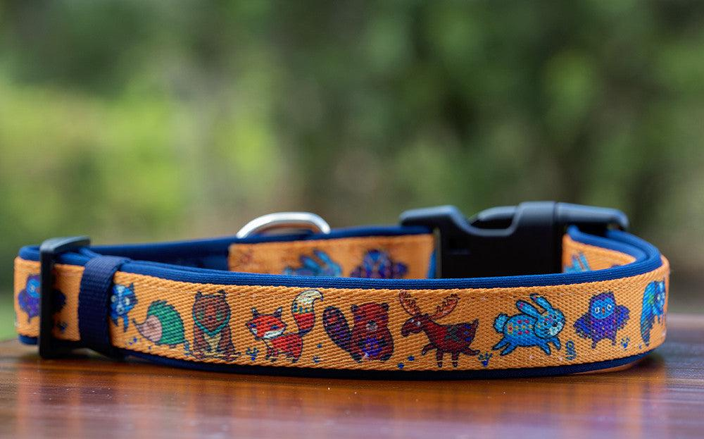 Forest Friends Dog Collar-Dog Collar-Dizzy Dog Collars-Large-Dizzy Dog Collars