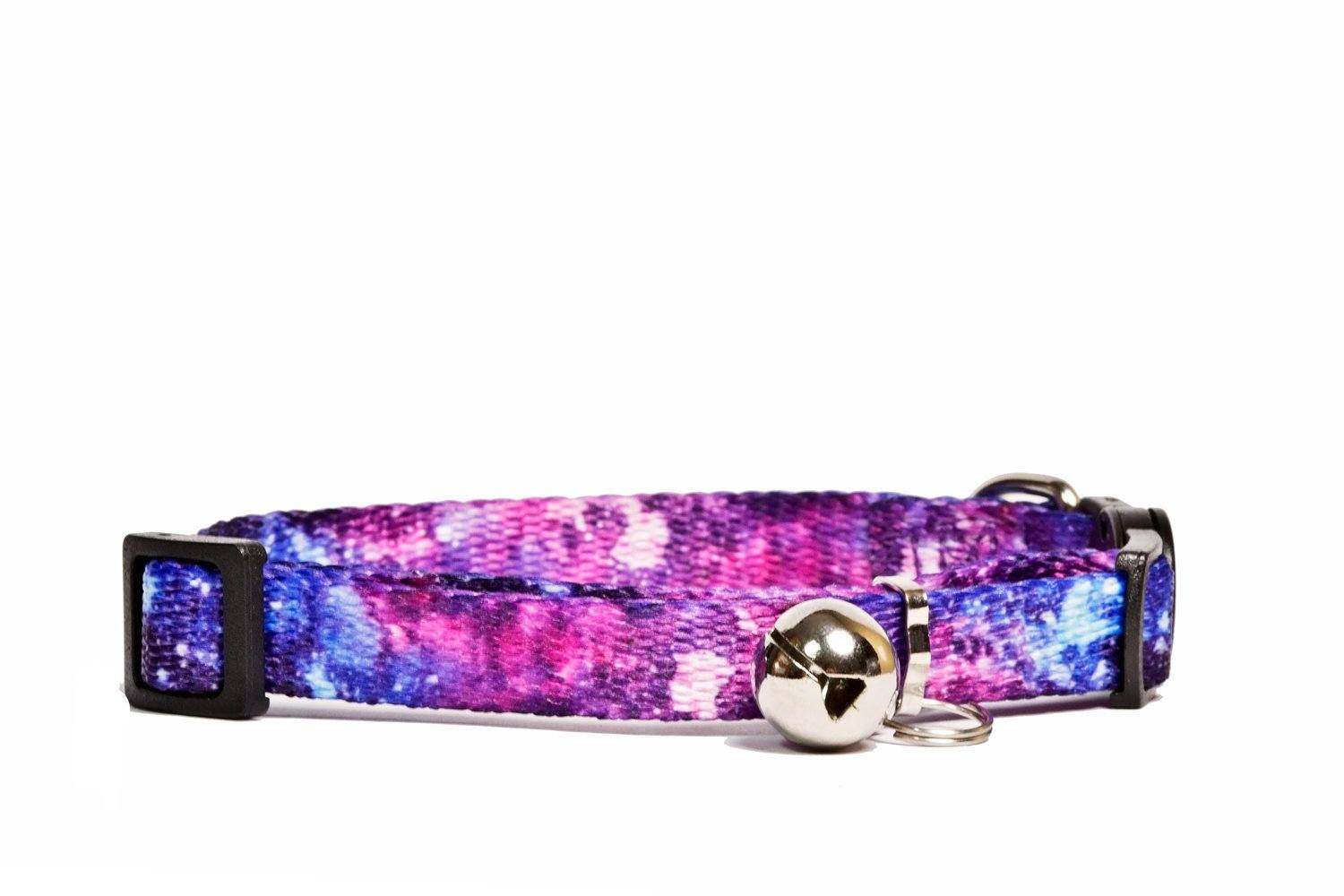 Galaxy Cat Collar / Toy Breed Dog Collar /Puppy Collar-Dizzy Dog Collars-Dizzy Dog Collars