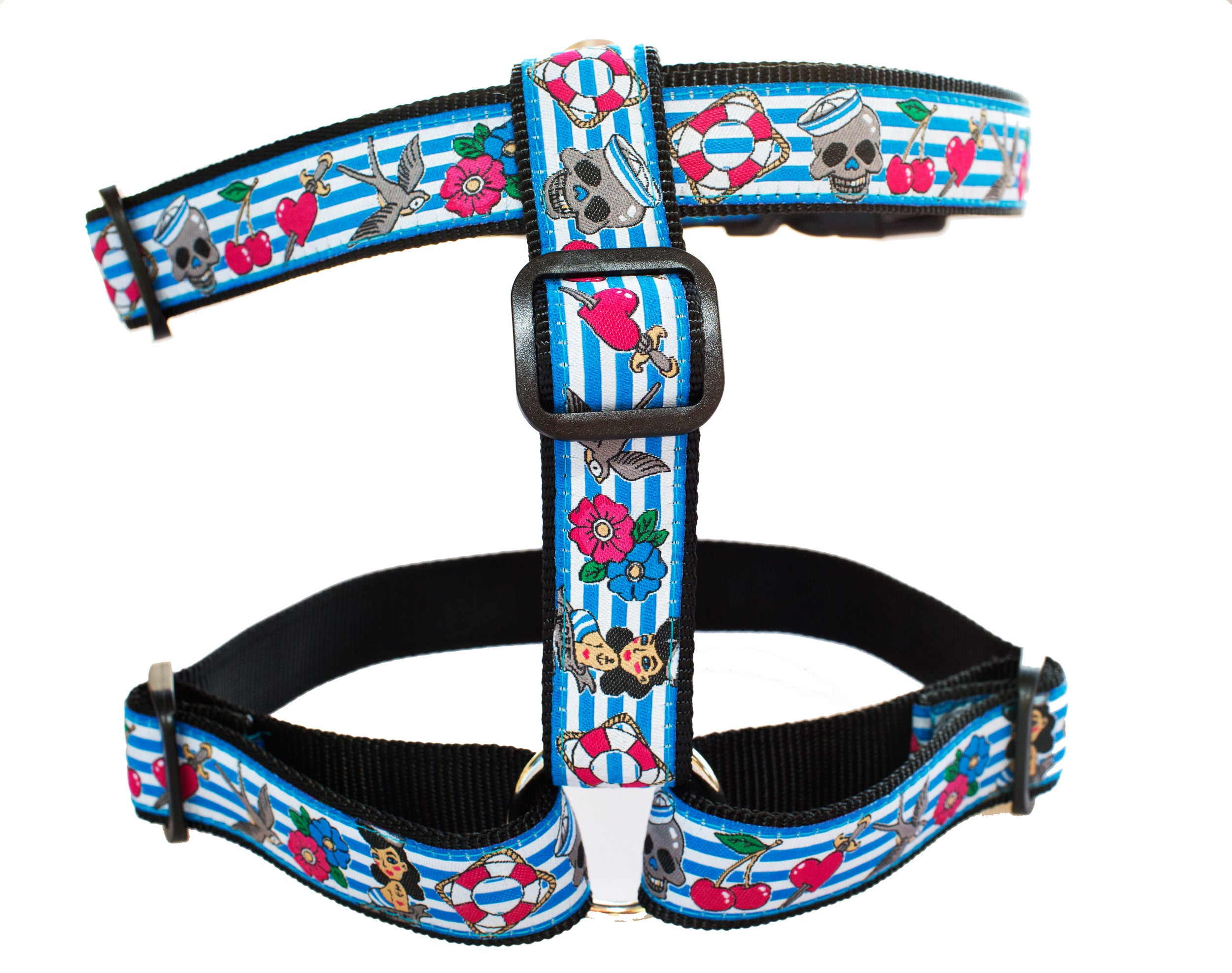 Girl Rockabilly Harness  / Dog Harness / H-Harness for Dogs