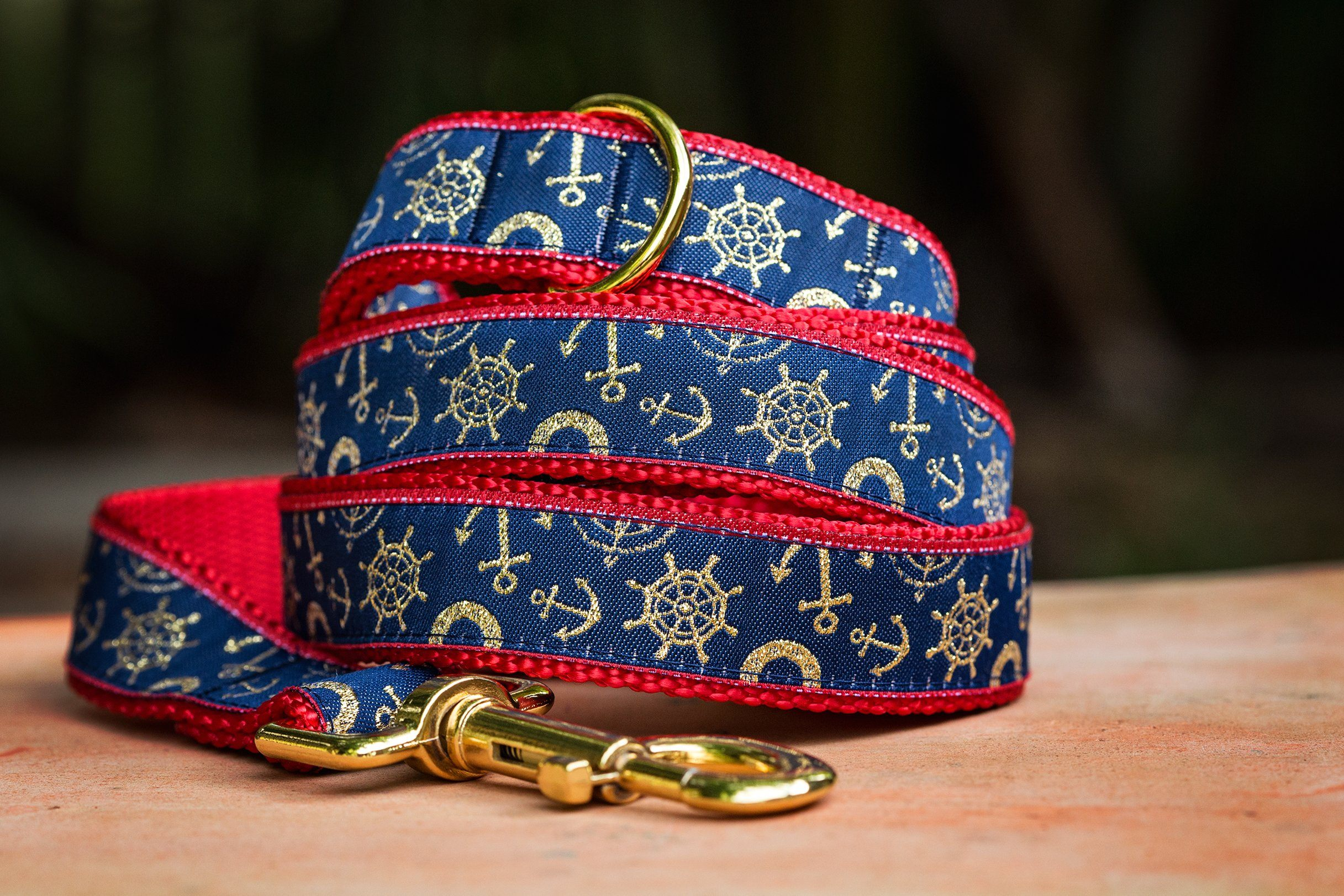Gold Nautical Dog Leash / Gold Dog Lead