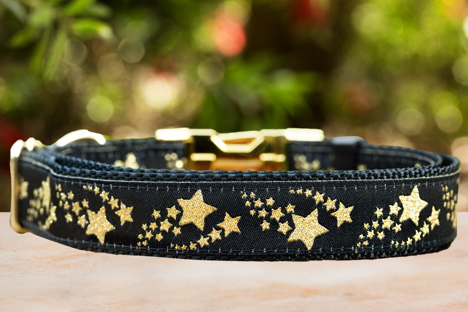Glitter Shooting Stars Dog Collar / XS-XL (Handmade to order)-Dog Collar-Dizzy Dog Collars