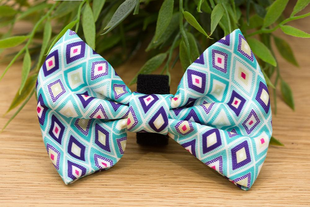 Green Jewels Bow Tie - Small & Large-Dizzy Dog Collars