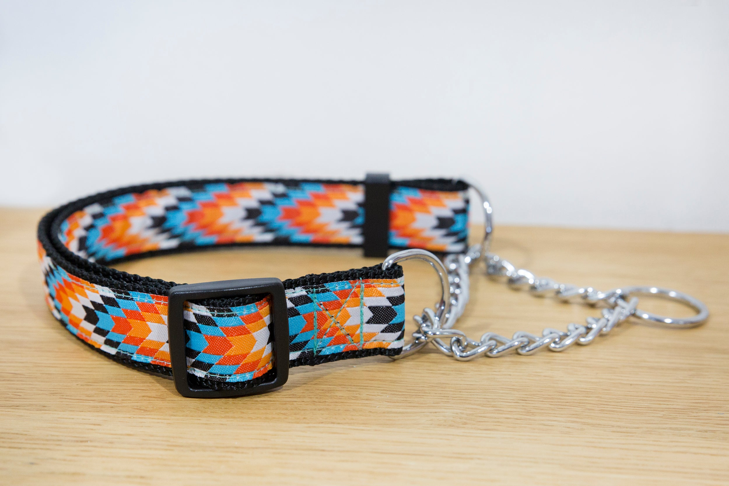 Sunset Navajo Martingale (Webbing or Half Check)-Dog Collar-Dizzy Dog Collars
