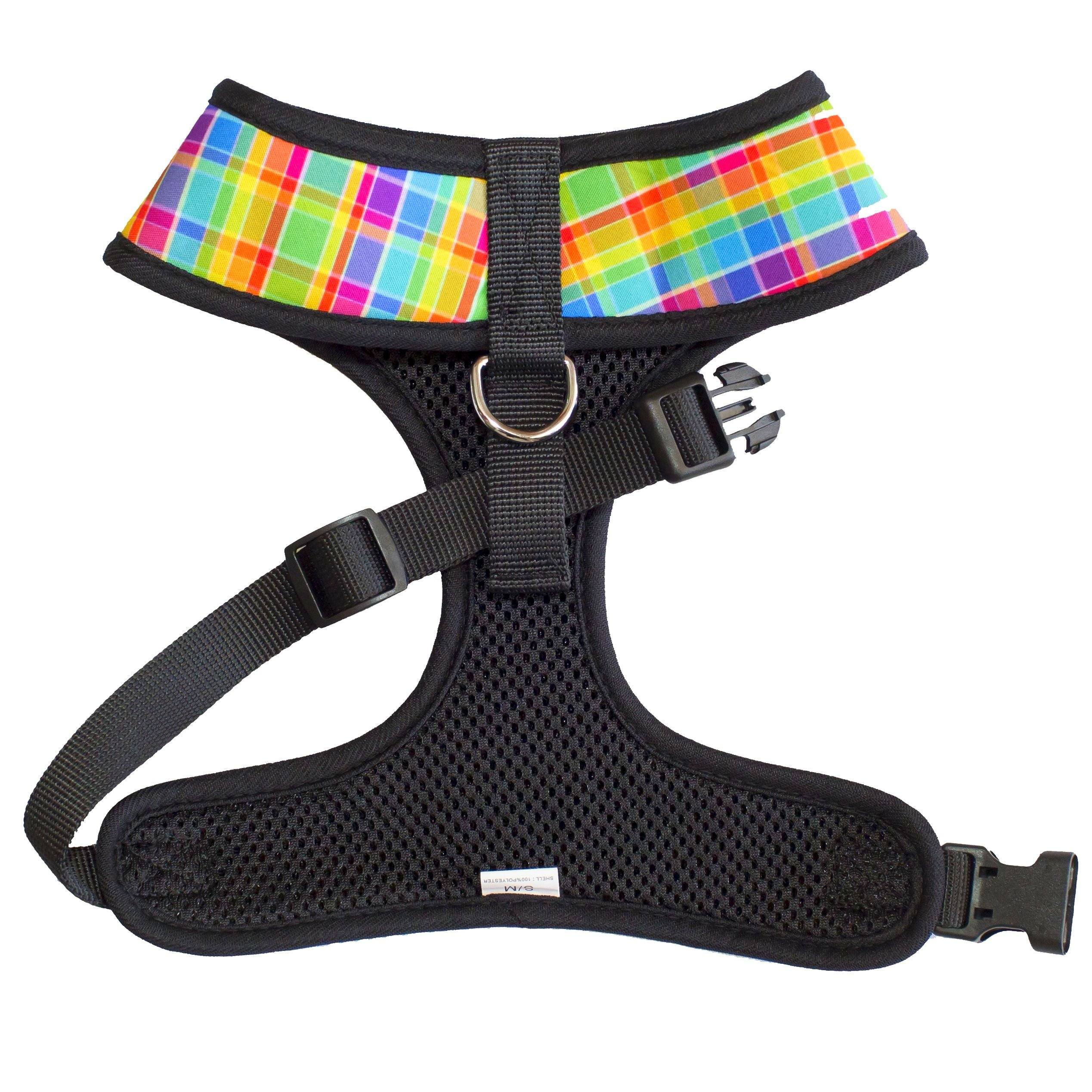 Candy Plaid- Standard Dog Harness -SEE DESCRIPTION-Dizzy Dog Collars-Dizzy Dog Collars