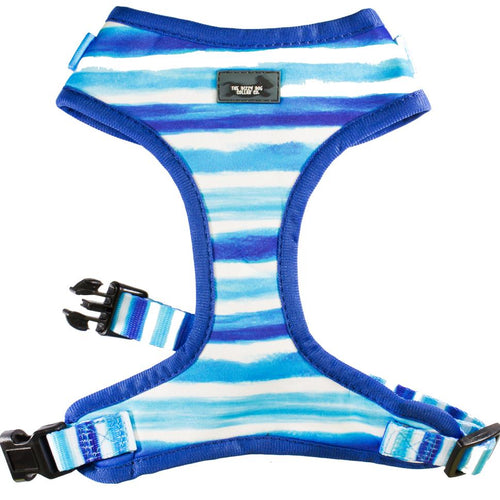 DOG HARNESS - Artist Palette Blue - Neck Adjustable (Premade)